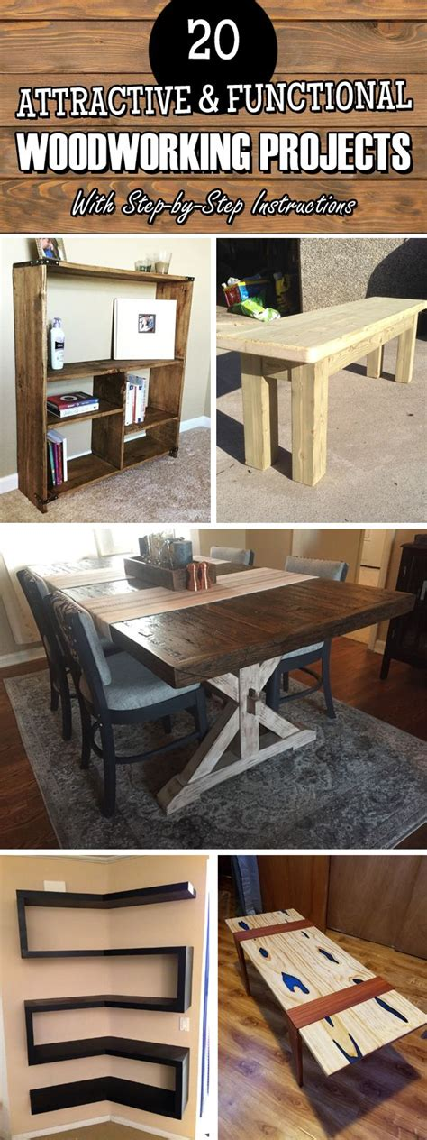 attractive functional woodworking projects  step
