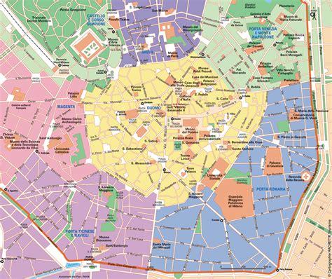 Carte Touristique Centre by Carte Milan Plan Milan Routard