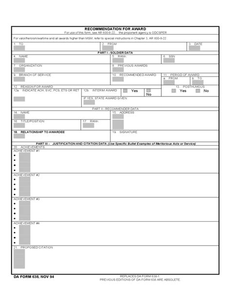 army award form   templates   word excel