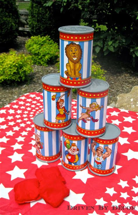 carnival circus themed birthday party driven  decor