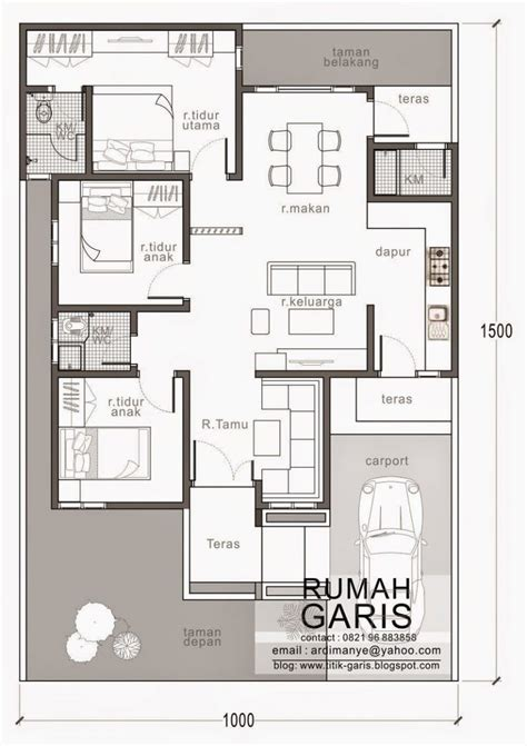 Three Bedroom House Design in 150 Sq m Lot Pinoy ePlans