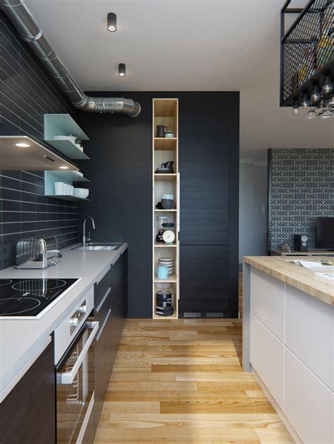eclectic single bedroom apartment  open floor plan