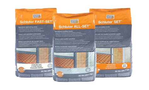 schluter systems introduces three thin set mortars 2017