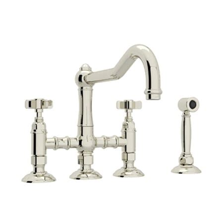 rohl country kitchen bridge faucet rohl a1458xwspn 2 polished nickel country kitchen three 7790