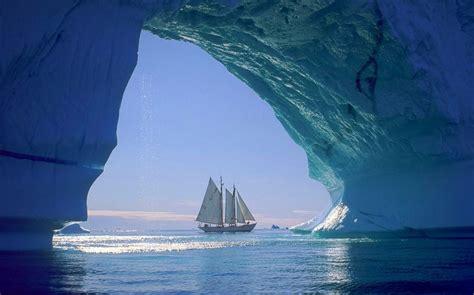 nature, Landscape, Iceberg, Sailboats, Sea, Cave, Ice ...