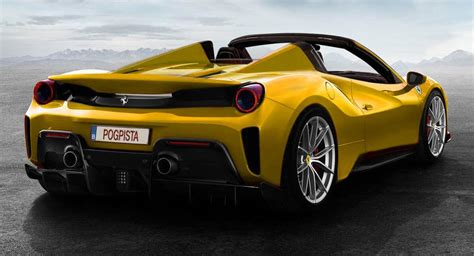 "Ferrari 488 Pista Rendered As An Open-Top ""Aperta"" | Carscoops"