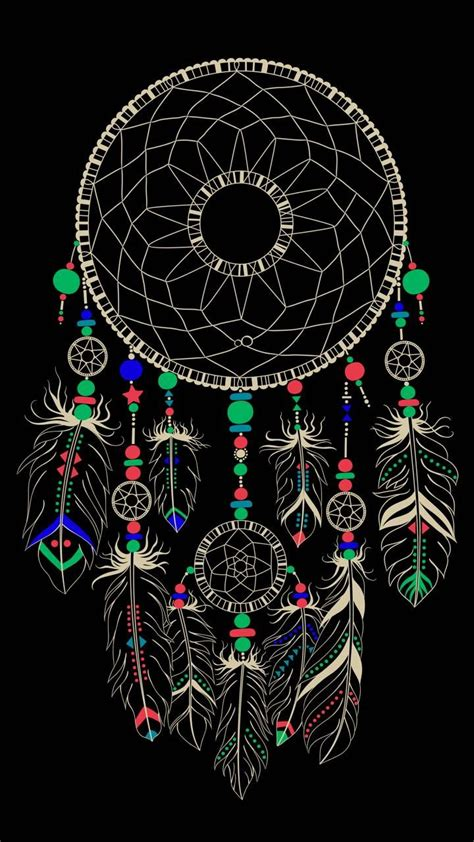 Black Wallpaper Iphone Catcher by Dreamcatcher Wallpaper By Sixty Days 6c Free