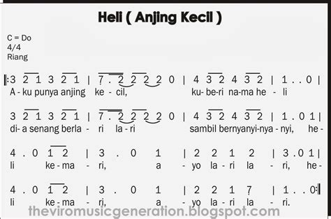 lagu indonesia raya not balok the viro notasi angka lagu anak anak quot heli aku punya anjing kecil