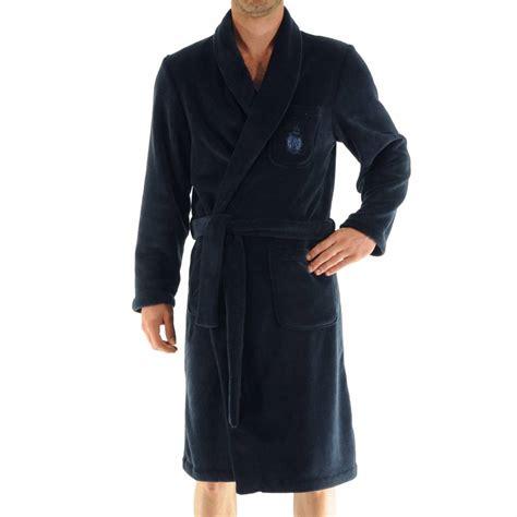 robe de chambre polaire homme robe de chambre baikal christian en polaire bleu