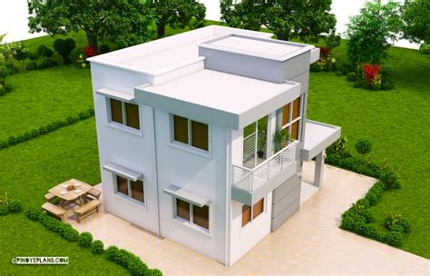 ernesto compact  bedroom modern house design pinoy eplans