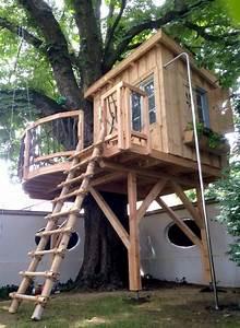 Baumhäuser Für Kinder : unter einem alten kastanienbaum haben wir dieses baumhaus errichtet das mit einer vier meter ~ Eleganceandgraceweddings.com Haus und Dekorationen