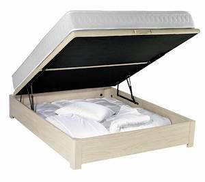 Coffre Pied De Lit : acheter un sommier coffre simmons au meilleur prix mon lit coffre ~ Teatrodelosmanantiales.com Idées de Décoration