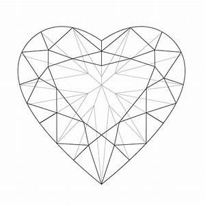 Heart Shaped Diamond Drawing At Getdrawings