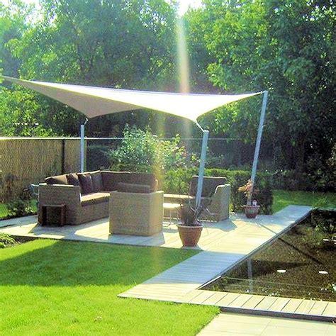 tuin palen schaduwdoek schaduwdoek vierkant waterdicht sunfighter schaduwdoek