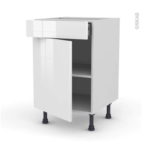 porte de meuble cuisine meuble de cuisine bas stecia blanc 1 porte 1 tiroir l50 x