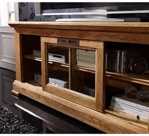 Meuble Tv En Chene Massif : meuble tv ch ne massif colisee 2195 ~ Teatrodelosmanantiales.com Idées de Décoration