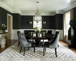 deco salle a manger noire atmosphere stylee et dramatique With meuble salle À manger avec chaise salle a manger noire design