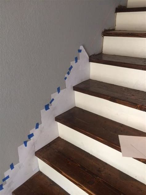 How to make a skirt board for preexisting stairs.   Board