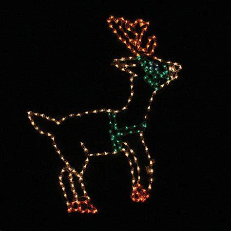 lighted outdoor standing reindeer traditional outdoor
