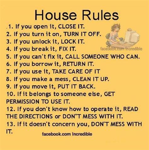house rules pictures   images  facebook