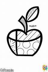 Britto Romero Coloring Clipart Brito Zipper Pop Heart Printable Arte Colorir Pintar Drawing Apple Tuning Desenhos Colorear Graffiti Pomme Apfel sketch template