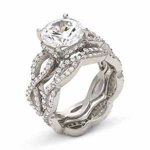 diamonartr cubic zirconia engagement ring set jcpenney With jcpenney jewelry wedding rings