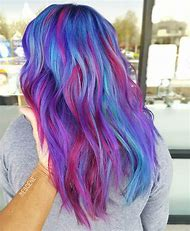Blue and Magenta Hair Color