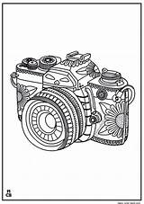 Coloring Pages Whimsical Camera Pattern Patterns Adults Zentangle Icolor Adult Colouring Kaynağı Makalenin Magiccolorbook Flower Cameras sketch template