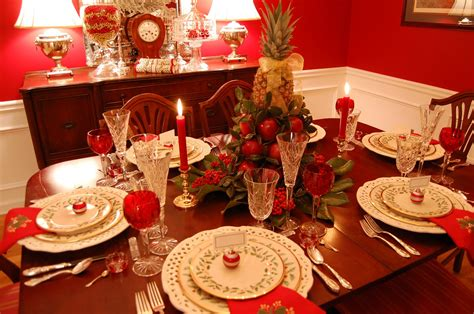 table setting for christmas christmas tablescape with lenox holiday and a colonial williamsburg apple tree centerpiece