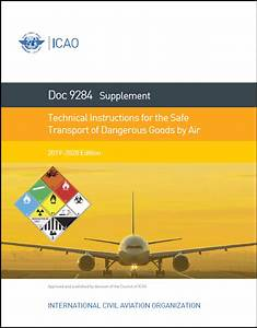 Icao 9284 Supplement To Technical Instructions  2019
