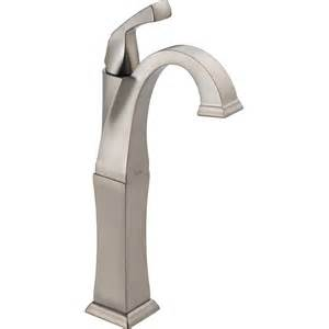 shop delta dryden stainless 1 handle single watersense bathroom faucet at lowes