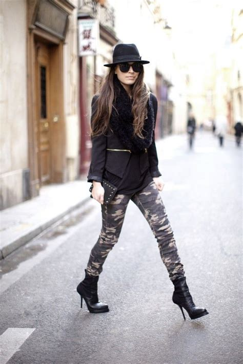 What to Wear with Camo Skinny Jeans | Aelida