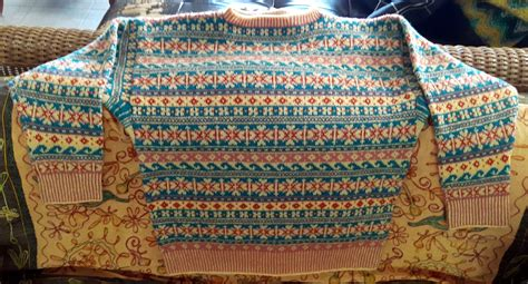 traditional fair isle sweater baggage clothing