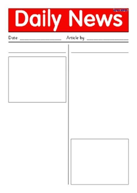 newspaper writing frames  printable page borders ks