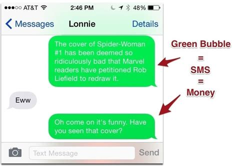 do you block text messages on iphone if my imessage goes from blue to green does that i m