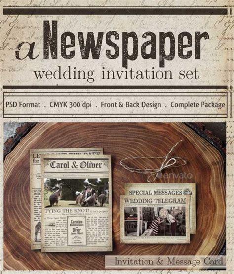 wedding newspaper template   tidytemplates