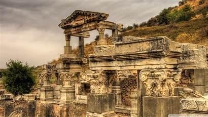 Ancient Greek Ruins Temple Ephesus Turkey Wallpapers