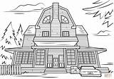 Haunted Coloring Pages Scary Halloween Printable Mansion Adult Drawing Houses Colouring Amityville Spooky Template Templates Categories Sketch Crafts sketch template