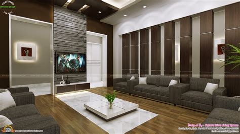 Livingroom Interiors by Attractive Home Interior Ideas Kerala Home Design And