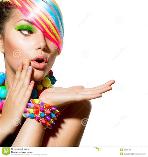 girl accessories colorful makeup hair and accessories stock image image