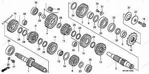 Honda Motorcycle 2003 Oem Parts Diagram For Transmission