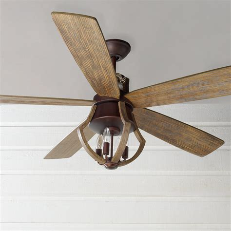 56 Indoor Rustic Wine Barrel Stave Ceiling Fan Shades