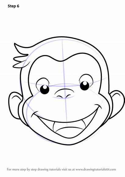 Curious George Draw Face Step Drawing Tutorials