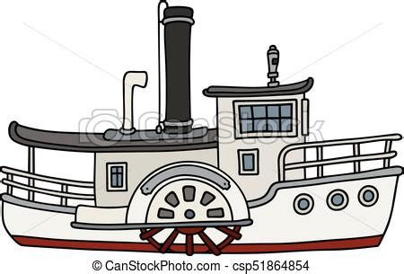 Steamboat Clipart by Paddle Steamboat Drawing Of A