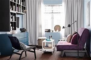 Deco Salon Ikea : un petit salon ikea moderne avec meubles astucieux ~ Teatrodelosmanantiales.com Idées de Décoration