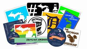 michigan natives show 39mitten pride39 with custom stickers With customise sticker