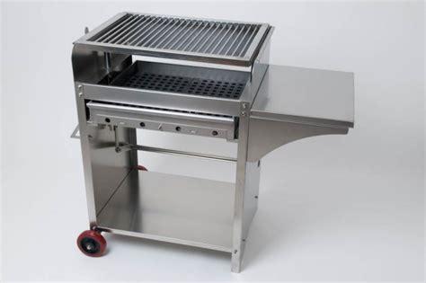 edelstahl grill holzkohle deluxe edelstahlgrill l holzkohle edelstahl grill ebay