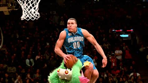 awesome slow motion  aaron gordons  slam dunk