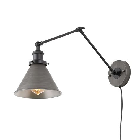 lnc 1 light dark gray wall l adjustable plug in wall