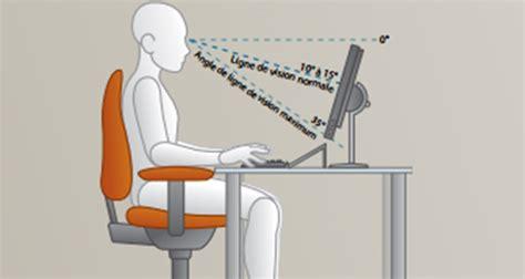 ergonomie la bonne posture devant pc plusieurs